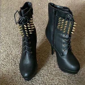 Spiked Heeled Boots